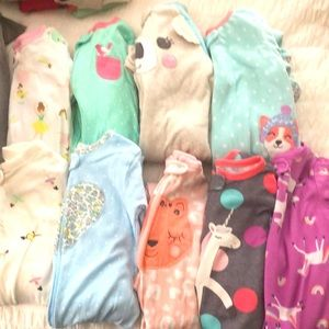 9 sets of 24 month/2T pajamas